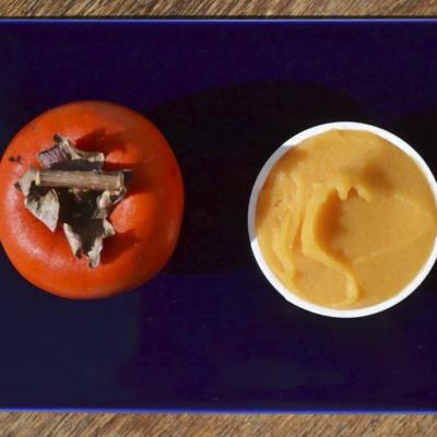 渋柿のシャーベット