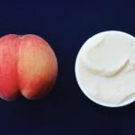 白桃のシャーベット